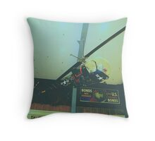 HTL Sioux Helicopter Throw Pillow