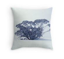 Snow Gum on White Throw Pillow
