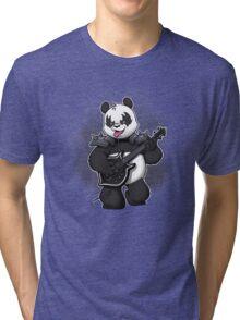 Heavy Metal Panda Tri-blend T-Shirt