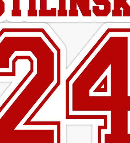 Stilinski 24 Maroon Sticker