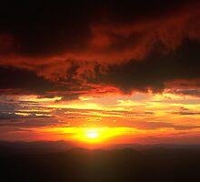 Sunset from Mt.Hotham by John Barratt
