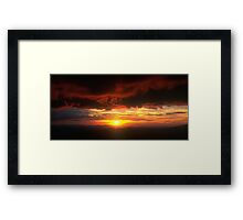 Sunset from Mt.Hotham Framed Print