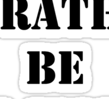 Right Now, I'd Rather Be Off-World - Black Text Sticker