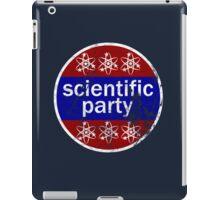 scientific party iPad Case/Skin