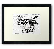 Balaena Bay, Wellington, New Zealand Framed Print