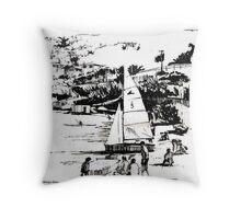 Balaena Bay, Wellington, New Zealand Throw Pillow