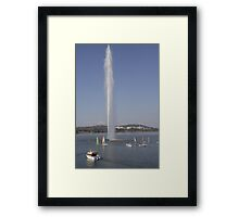 Captain Cook Memorial Fountain, Lake Burley Griffin Framed Print