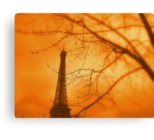 Eiffel orange Canvas Print