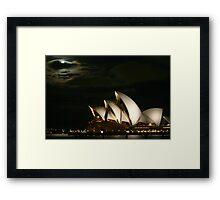 Harbour Moon Framed Print