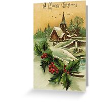 Beautiful Vintage Christmas Classic Retro Card Greeting Card