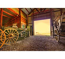 1880 Town Barn Photographic Print