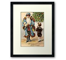 Beautiful Vintage Christmas Classic Retro Card Framed Print