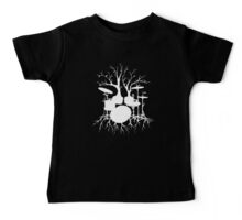 """""""Live the Beat to the Tempo of Creation"""" ~ drum art , version1 Baby Tee"""