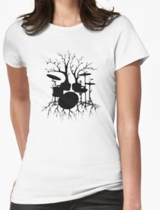 """Live the Beat to the Tempo of Creation"" ~ drum art, version2 Womens Fitted T-Shirt"