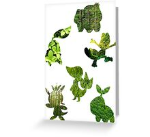 Grass Type Starters Greeting Card