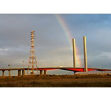 rainbow and bridge Photographic Print
