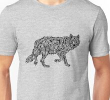 """Wolf Spirit"" - surreal tribal totem animal Unisex T-Shirt"