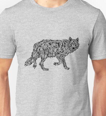 """Wolf Spirit"" - surreal tribal totem animal Unisex T-Shirt"