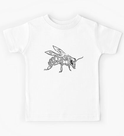 """Bee Spirit"" ver.1 - Surreal abstract tribal bee totem animal Kids Tee"