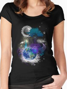 Cosmic geometric peace Women's Fitted Scoop T-Shirt