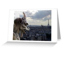 Guarding paris Greeting Card