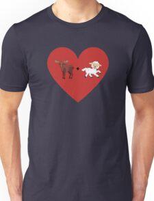Moose and Lamb Muslim Love  Unisex T-Shirt