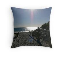 A walk to the beach Throw Pillow