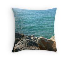 Port Beach Throw Pillow