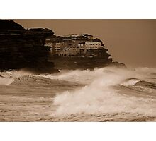 Stormy day near Bondi Photographic Print