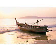 Krabi longboat Photographic Print