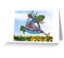 Cthulhu Dreams of an Elf Coat Greeting Card