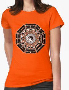 Mandala Yin Yang (black) Womens Fitted T-Shirt