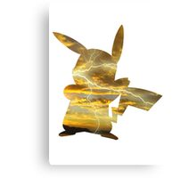 Pikachu used Thunderbolt Canvas Print
