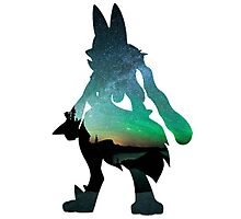 Mega Lucario used Aura Sphere Photographic Print