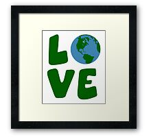 Love the Mother Earth Planet Framed Print