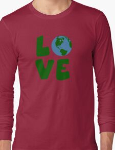 Love the Mother Earth Planet Long Sleeve T-Shirt