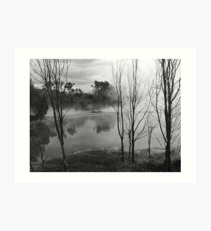sulfur ponds 2 Art Print