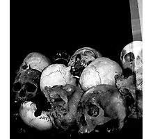 ..to the victims of the Khmer Rouge.. Photographic Print