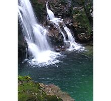 Waterfall In Slovenia Photographic Print