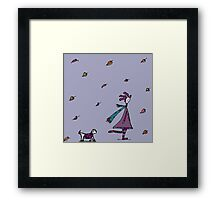 Autumn Had Found Silly. Silly Had Found Other Things... Framed Print