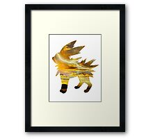 Jolteon used Thunder Framed Print