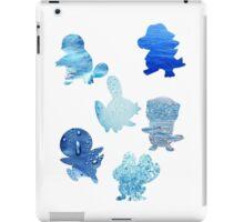 Water Type Starters iPad Case/Skin