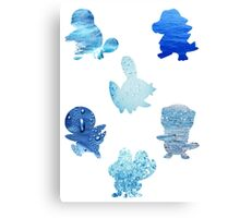 Water Type Starters Canvas Print