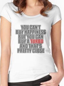 Happiness is Turbo Women's Fitted Scoop T-Shirt