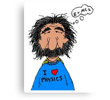 I Love Physics Canvas Print