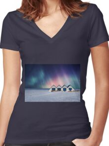 Time For Miracles Women's Fitted V-Neck T-Shirt