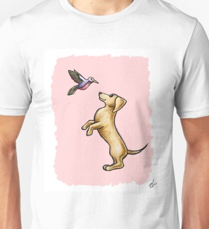 The Dog and the Hummingbird Unisex T-Shirt