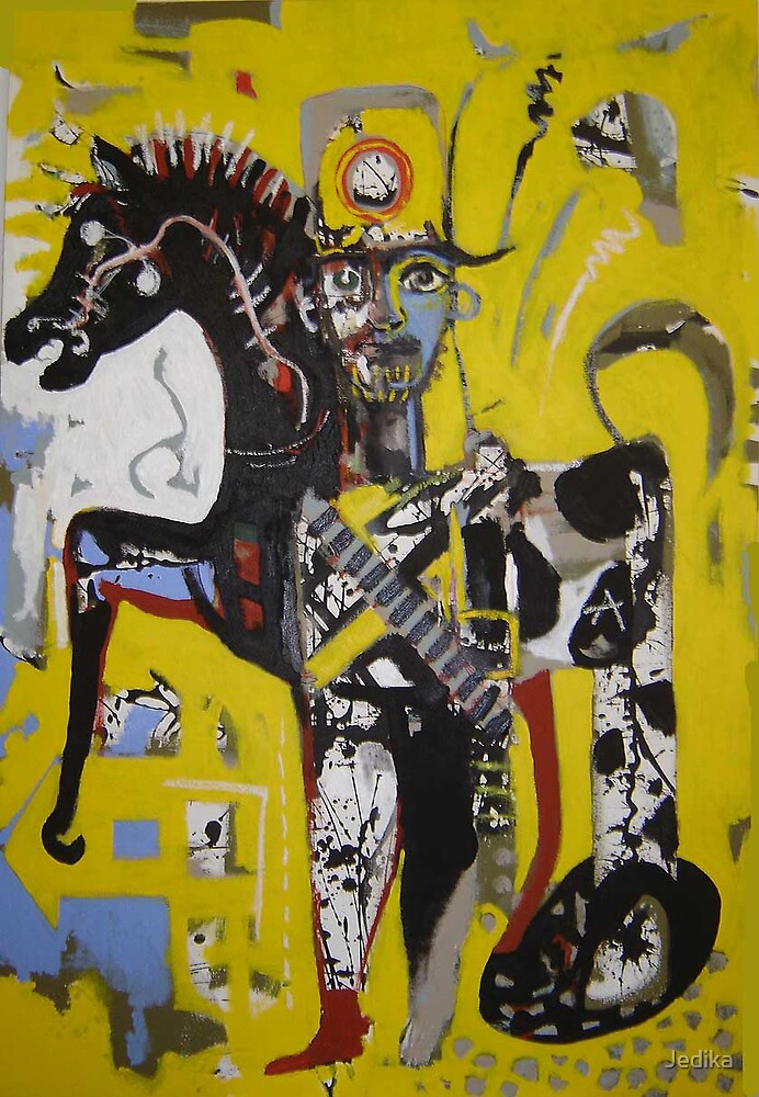 The Horseman in yellow Sun by Jedika