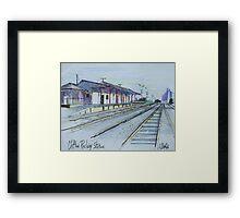 Railway Station, Clifton, Queensland Australia Framed Print