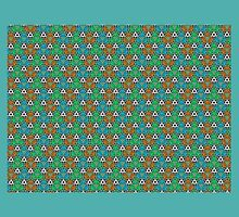 FRESH AQUAMARINE GREEN GEOMETRIC PATTERN  by ackelly4